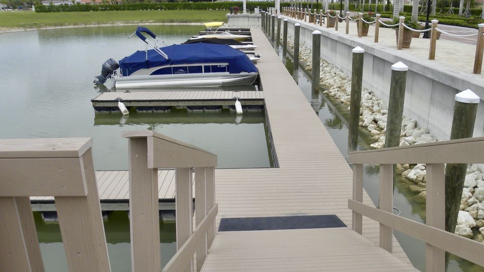 Custom designed, engineered and built multi-slip floating dock facility