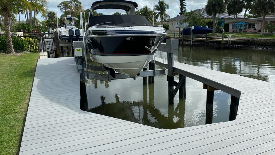 13,000 lb. capacity Quality/IMM Low Profile boat lift