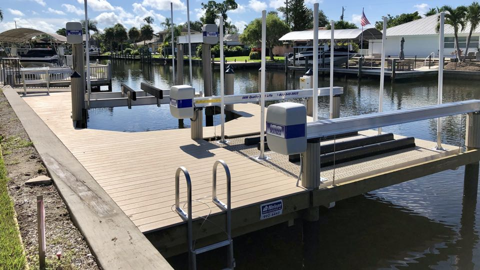 Dock with IMM lift and kayak platform